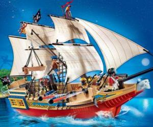 Puzle Navio de pirata do Playmobil