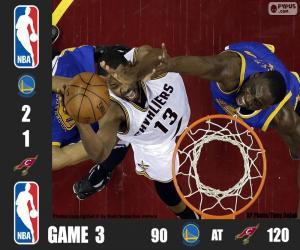 Puzle NBA finals 2016, jogo 3