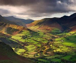 Puzle Newlands Valley, Cumbria, na Inglaterra