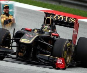 Puzle Nick Heidfeld - Renault - Sepang, Malásia Grand Prix (2011) (3 º lugar)