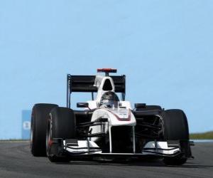 Puzle Nick Heidfeld - Sauber - Interlagos 2010