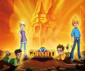 Puzle Nick, Toby, Lucas e Jessica, quatro amigas que se tornam os Senhores da Natureza para salvar Gorm