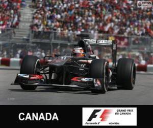 Puzle Nico Hülkenberg - Sauber - Circuito Gilles Villeneuve, Montreal, 2013
