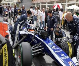 Puzle Nico Hulkenberg - Williams - Monte Carlo de 2010