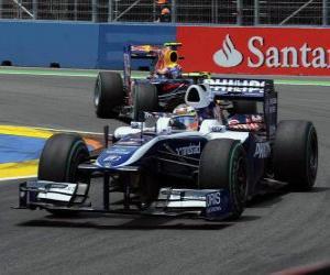 Puzle Nico Hulkenberg - Williams - Valência 2010