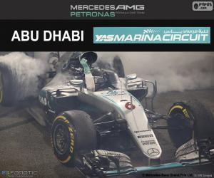 Puzle Nico Rosberg, GP Abu Dhabi 2016
