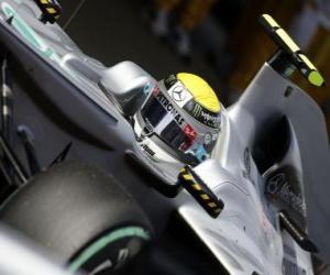 Puzle Nico Rosberg - Mercedes - Barcelona 2010