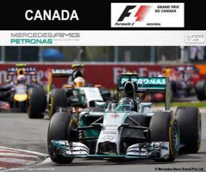 Puzle Nico Rosberg - Mercedes - GP do Canadá de 2014, 2º classificado