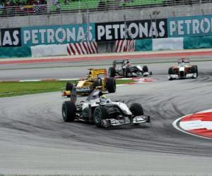 Puzle Nico Rosberg - Mercedes - Sepang 2010