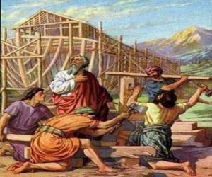 Puzle Noé construiu a sua arca para salvar do grande dilúvio aos elegidos