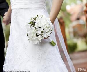 Puzle Noiva com bouquet