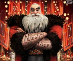 Puzle Norte, mais conhecido como Pai Natal. Personagem de A Origem dos Guardiões