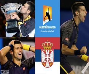 Puzle Novak Djokovic Campeão do Aberto da Austrália 2013