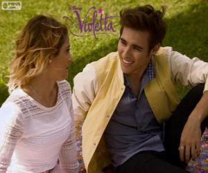 Puzle O amor de Violetta e Leon, Violetta 3