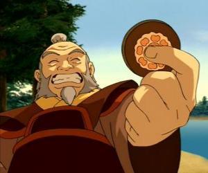 Puzle O aposentado general Iroh conhecido como o Dragão do Oeste é o tio e mentor de Zuko