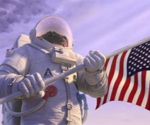 Puzle O astronauta Chuck Baker pisa o Planeta 51 pensando que ele é desabitada