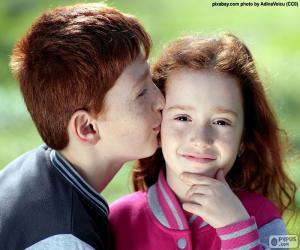 Puzle O beijo de dois irmãos
