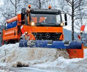 Puzle O caminhão limpa-neves