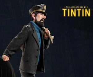 Puzle O Capitão Archibald Haddock é o melhor amigo de Tintin