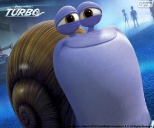 Puzle O caracol Chet, o irmão de Turbo