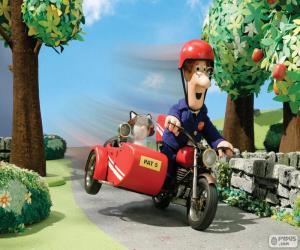 Puzle O Carteiro Paulo com sua motocicleta