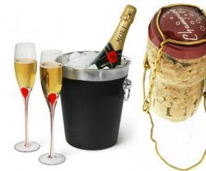 Puzle O champanhe é um tipo de vinho espumante produzido pelo método champenoise na região de Champagne, na França.