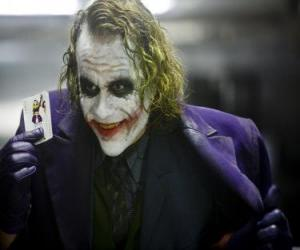 Puzle O Coringa ou O Joker é o maior inimigo do Batman e um dos vilões mais populares