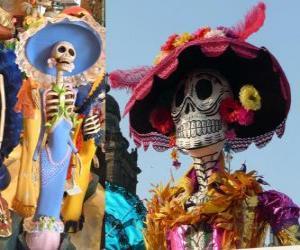 Puzle O crânio Catrina, uma das mais populares do Dia dos Mortos no México