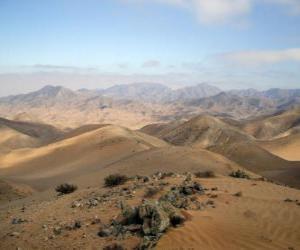 Puzle O deserto de Atacama no Chile