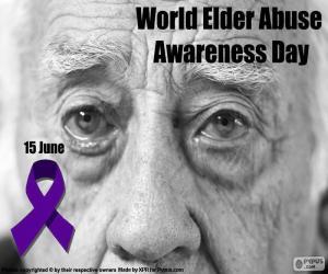 Puzle O dia mundial contra o abuso e maus-tratos na terceira idade