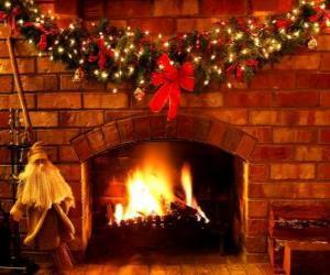 Puzle O fogo aceso na noite de Natal