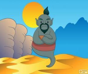 Puzle O gênio da lâmpada que ajuda Aladdin