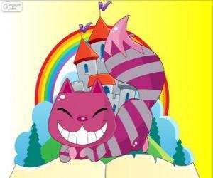 Puzle O Gato Risonho de Cheshire aparece e desaparece