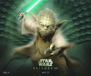 Puzle O grande mestre Yoda, um mestre de Jedi