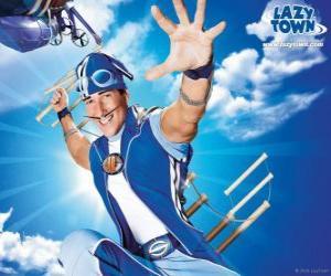 Puzle O herói do LazyTown, Sportacus, o atleta saudável