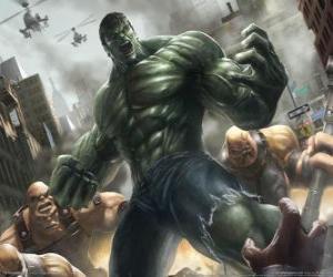 Puzle O Incrível Hulk com um poder quase ilimitado é um dos mais famosos super-heróis