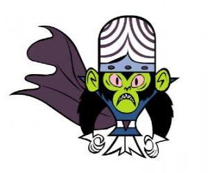 Puzle O inteligente macaco Mojo Jojo, o Macaco Loco é o maior inimigo das irmãs Utonium, As Meninas Superpoderosas