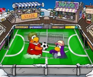 Puzle O jogo de futebol do Club Penguin