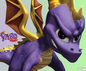 Puzle O jovem dragão Spyro, protagonista dos jogos de vídeo Spyro the Dragon