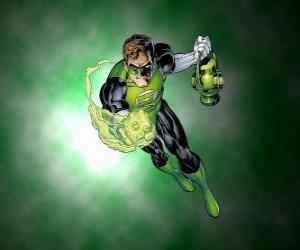 Puzle O Lanterna Verde, o super-herói tem um anel de poder, que é uma das armas mais poderosas no universo