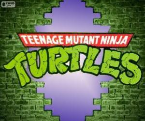Puzle O logotipo do Tartarugas Ninja