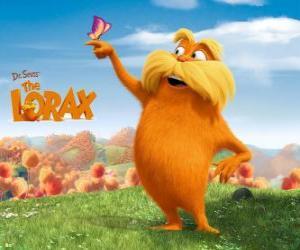 Puzle O Lorax, o gigante peludo é o guardião da floresta que fala com árvores