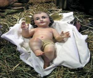 Puzle O Menino Jesus na manjedoura