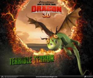 Puzle O menor dos dragões são o Terror Terrível, eles são encontrados geralmente em bandos