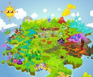 Puzle O mundo de Moshi Monsters