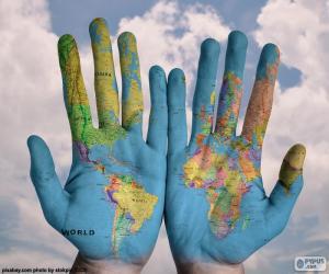 Puzle O mundo em nossas mãos