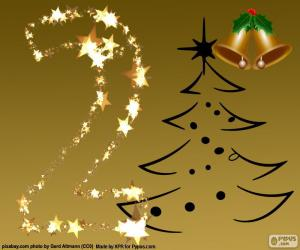 Puzle O número 2 de Natal