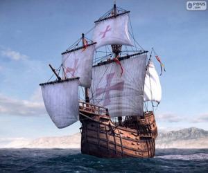 Puzle O navio Santa Maria
