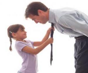 Puzle O pai vendo sua filha pode ser laçado empate