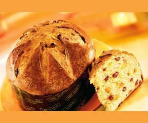 Puzle O panetone é uma sobremesa tradicional de Natal em Milão (Itália).